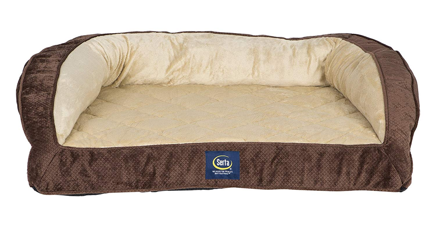 Serta Ortho Quilted Couch Pet Bed, Large