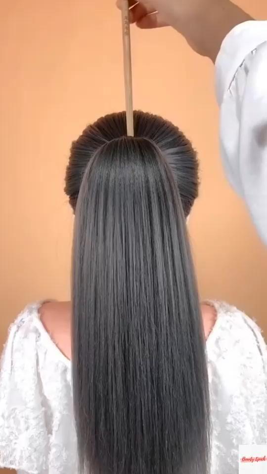 Easy and stylish short hair tutorial 010
