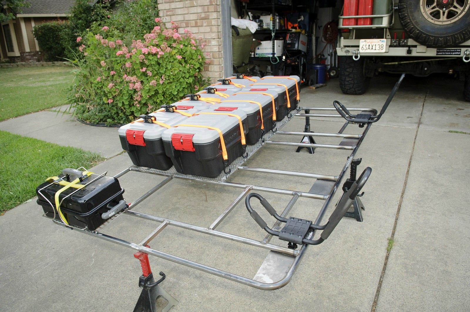 Gorgeous Homemade Roof Rack Sooo Much Storage Roof Rack Diy Jeep Truck Accessories Diy