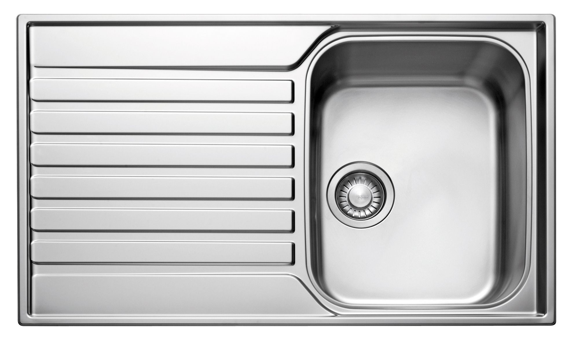 Franke Ascona 1 Bowl Polished Stainless Steel Sink & Drainer ...