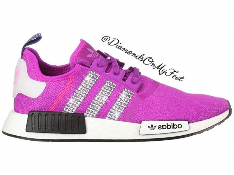 good out x shades of delicate colors Swarovski Womens Adidas Originals NMD R1 Vivid Pink Sneakers ...