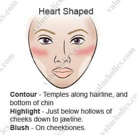 How To Find The Perfect Part For Your Hair Based On Your Face Shape Everyone Needs This Because Not Contour Heart Shaped Face Heart Face Shape Face Makeup Tips