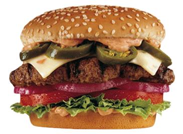 healthiest fast food burger meat