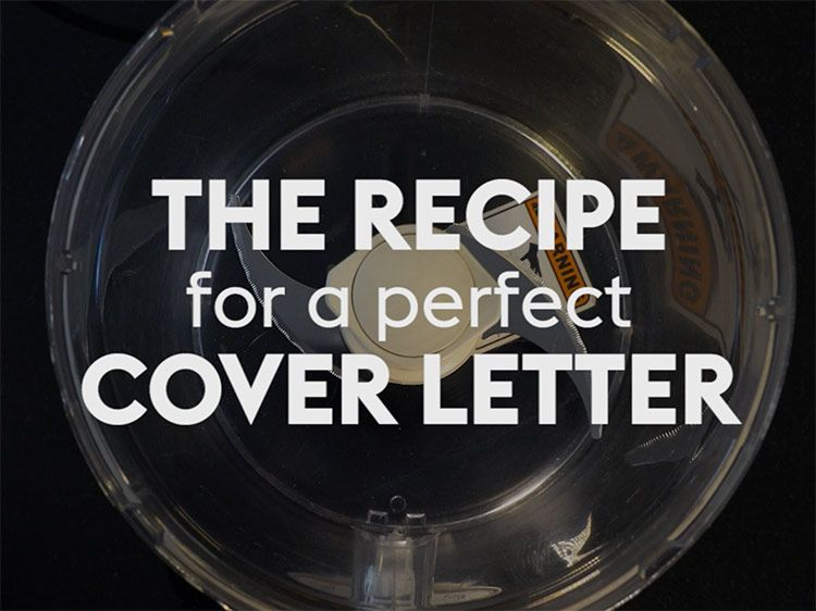 The Recipe For A Perfect Cover Letter  Perfect Cover Letter And