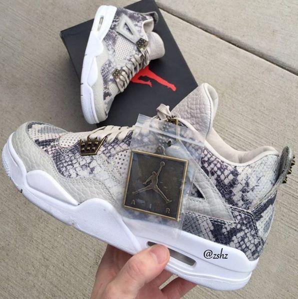 Sale Online Nike Jordan 4 Cheap sale Matte Black Python