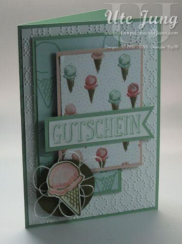 """""""So süß"""" heißt das Sale-A-Bration Set in dem Ihr den Eisstempel findet."""
