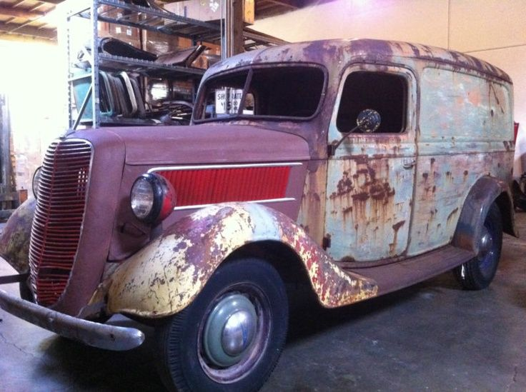 1937 Ford Panel Truck Delivery Rare 36 35 Need Some Tlc Panel Truck Trucks Old Ford Trucks