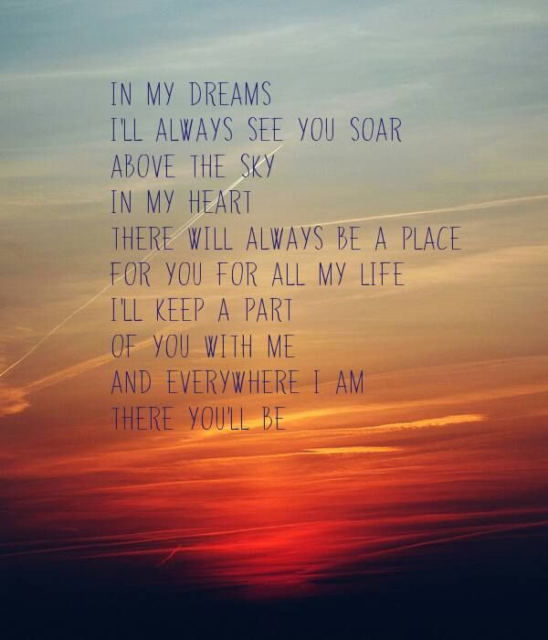 In My Dreams For All My Life Love You Forever Faith Hill