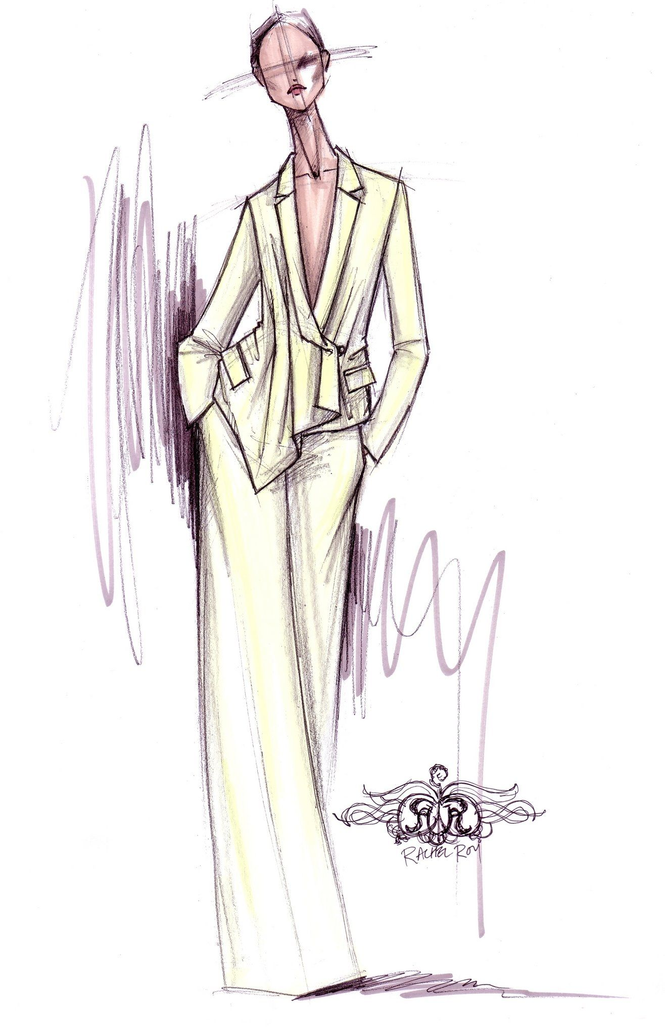 Fashion sketches new fashion sketches - Sketch From The Rachel Roy Spring 2012 Collection To Be Shown During New York Fashion Week