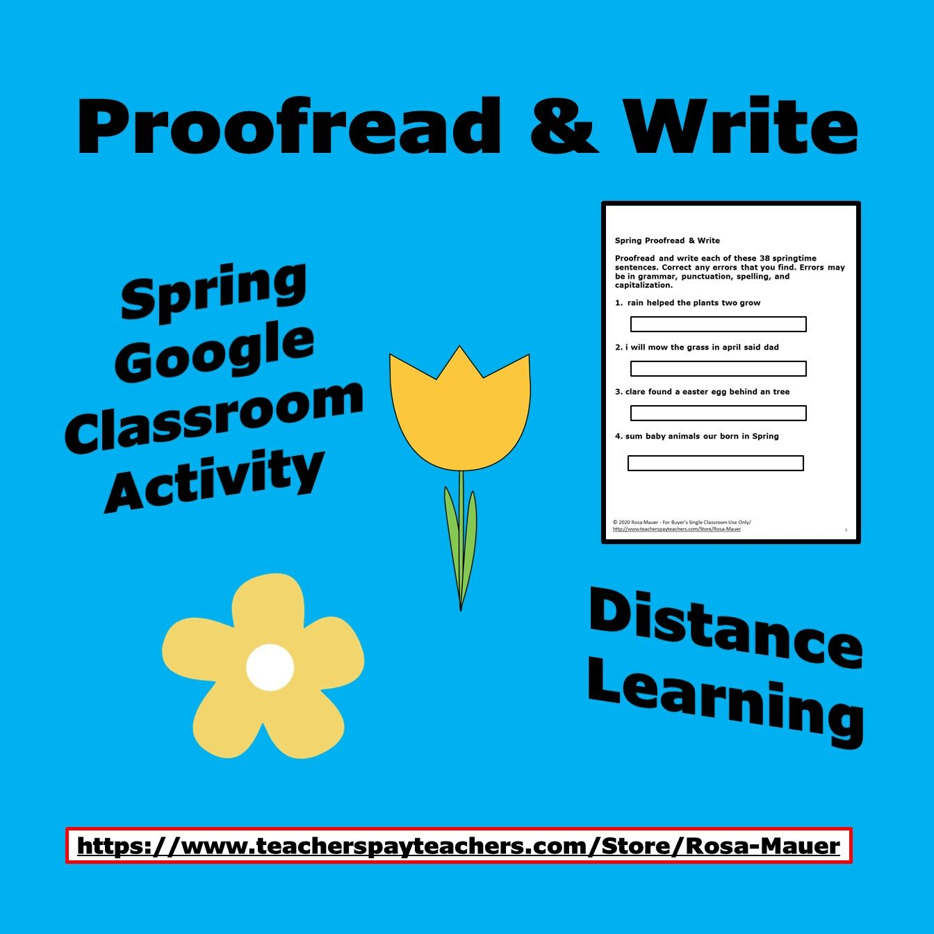Spring Proofreading And Editing Distance Learning