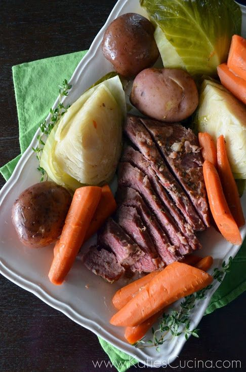 Slow Cooker Corned Beef and Cabbage - Katie's Cucina