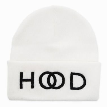 """Hood"" White Beanie http://www.myplaydirect.com/the-neighbourhood/hood-white-beanie/details/28573949?cid=social-pinterest-m2social-product_country=US=share_campaign=m2social_content=product_medium=social_source=pinterest $20.00"