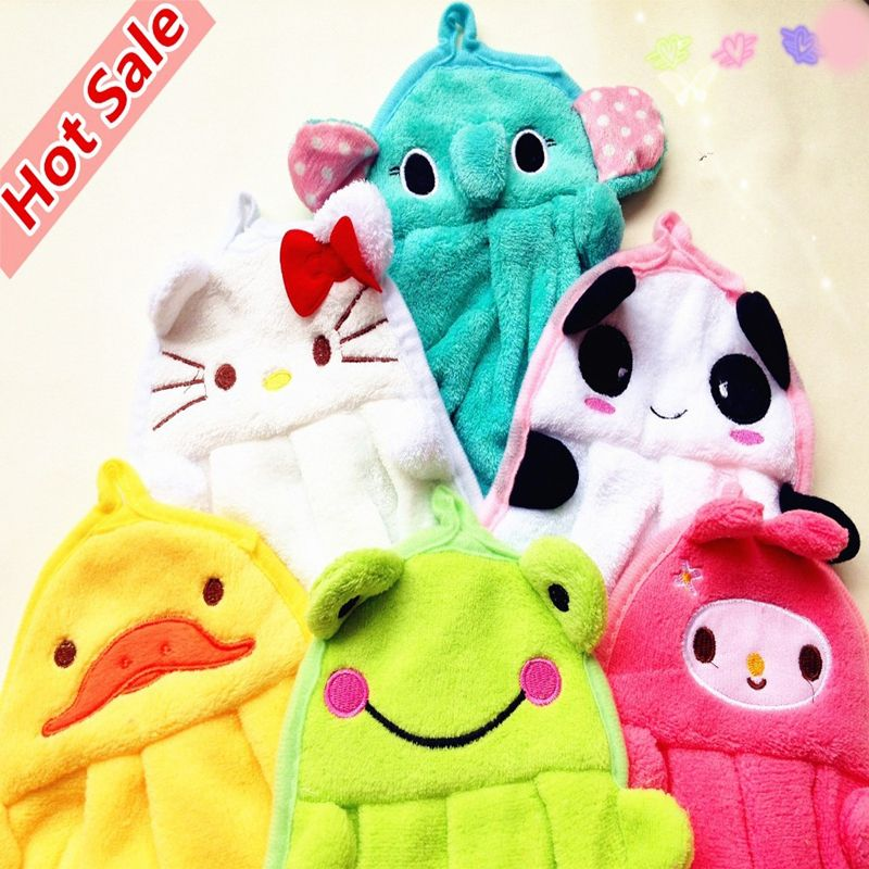 1 pieces Kitchen Supplies New Character Hanging Towel, Cute Animals ...