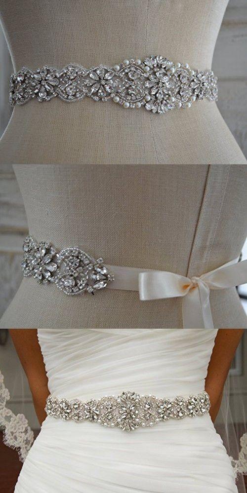 Wedding Sash Ivory ~Bridal Sash, Wedding Sash Rhinestone, Wedding ...