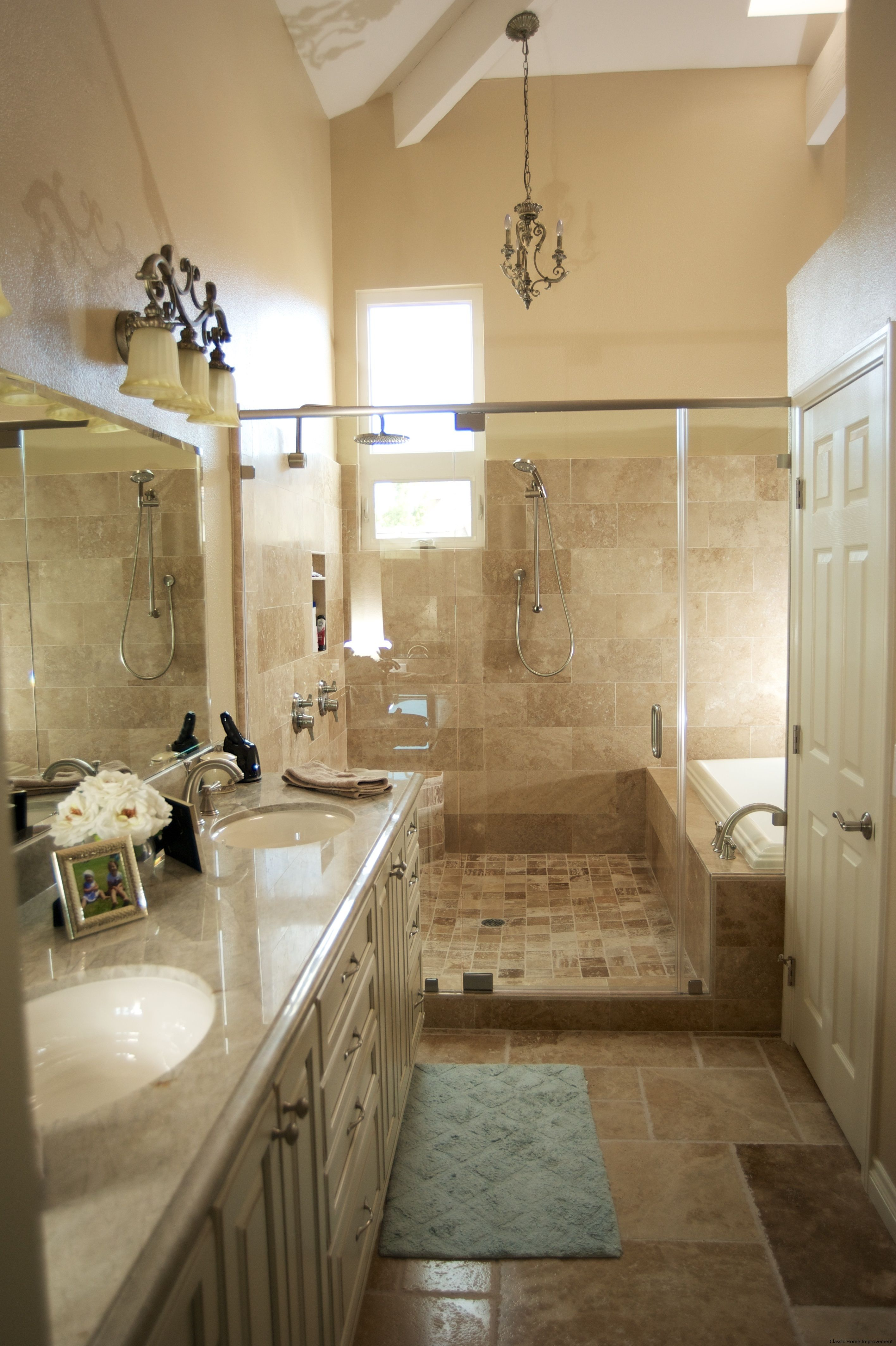 A Great Bathroom For Couples Nice Neutral Colors And A Glass Custom Great Bathroom Ideas 2018