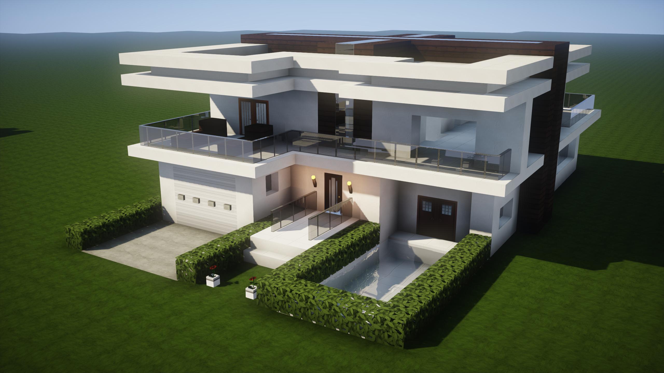 Construction D Une Maison Moderne A Minecraft Maison Zenidees Maison Moderne Minecraft Maison Moderne Minecraft Moderne
