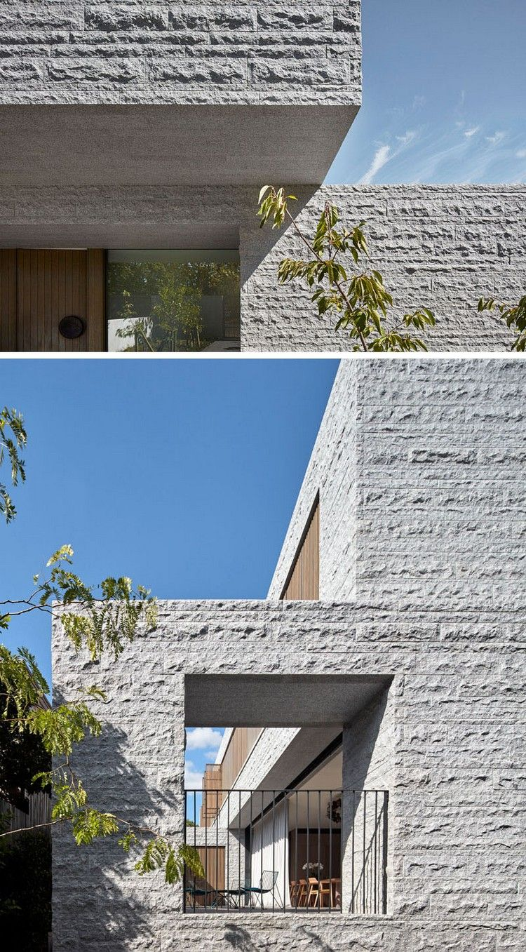 minimalistisches haus granitplatten fassade terrasse #architektur ...