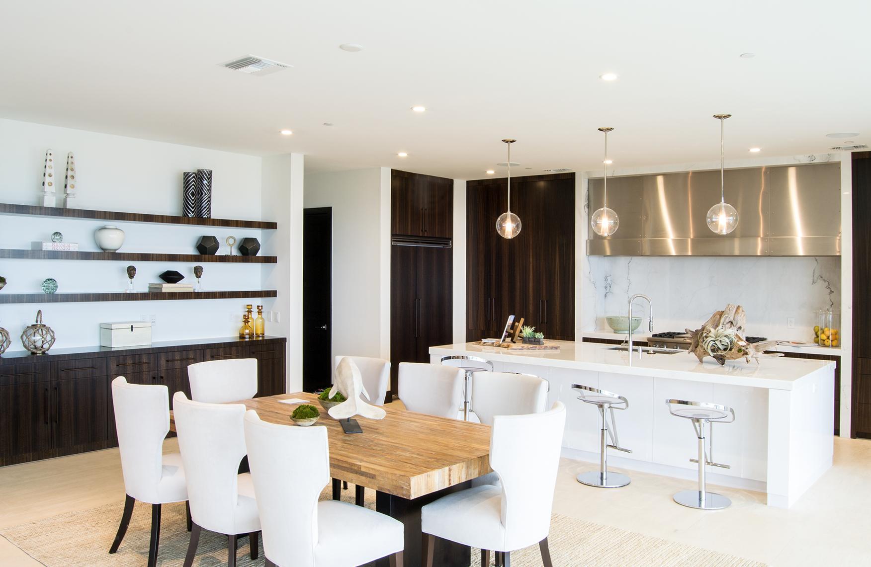 Slab kitchen cabinets  Modern kitchen in Laguna Beach with beautiful slab doors kitchen