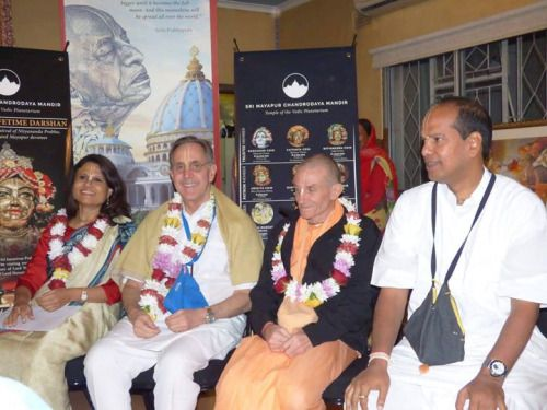 The team of the Temple of Vedic Planetarium is touring Cape Town, South Africa for the purpose of achieving support for the completion of the construction work. All glories to Srila Prabhupada! Sri…