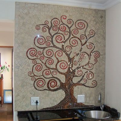 Easy mosaics tree patterns mosaic stained glass patterns for Easy mosaic designs