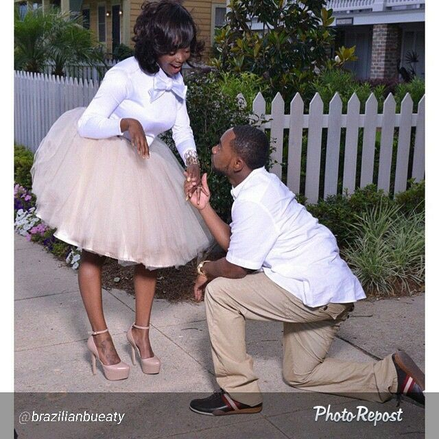 """African American Wedding Ideas: By @brazilianbueaty """"He Proposed With A Diamond I Started"""