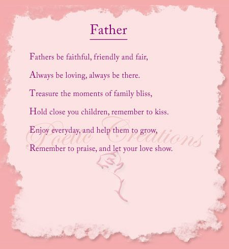 Pin by Amy's World on : to my daddy : | Fathers day poems, Remembering  mother, Father poems