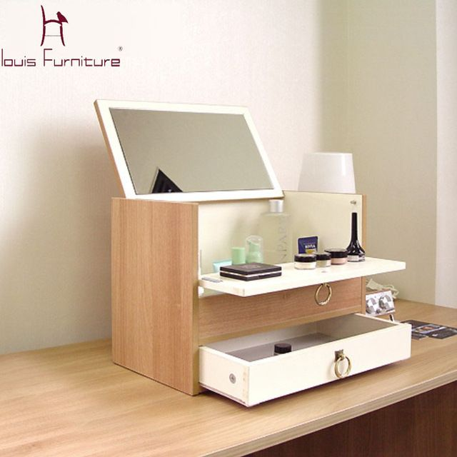 Portable Makeup Chest With Mirror Bedroom Dressers Furniture