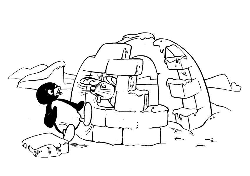 Pingu Fargelegging for barn. Tegninger for utskrift og fargelegging ...