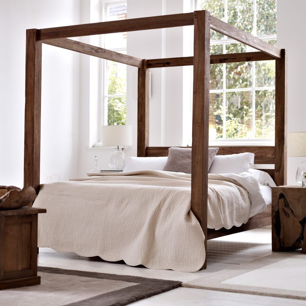 Bed Frame With 4 Posts Four Poster Bed Frame Four Poster Bed