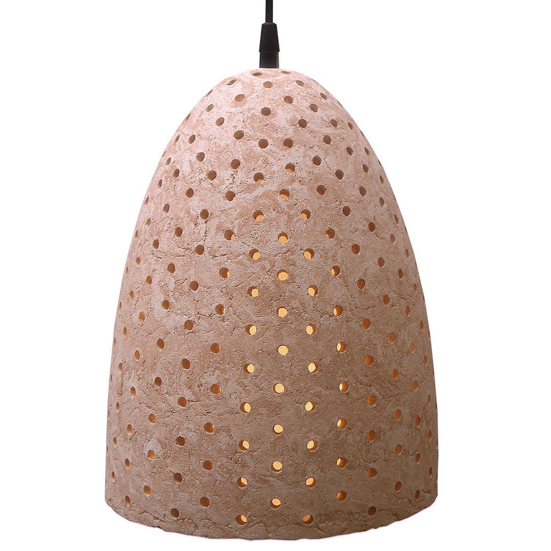 Lámpara para techo de cerámica, 100% hecha a mano. Acabado marmoleado natural mate en tonos anaranjados.Diseño: Katrin Schikora