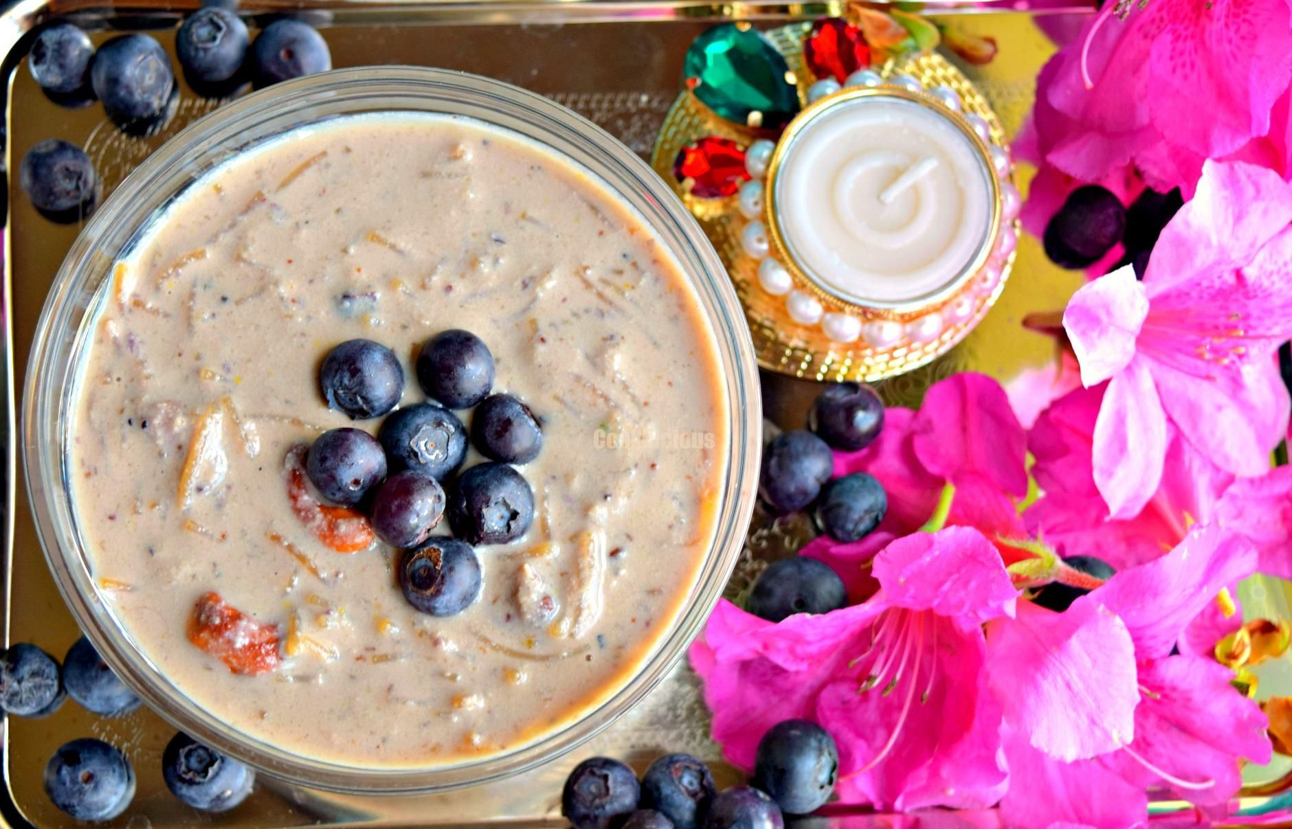 Cookilicious / Blueberry Vermicelli Kheer Pudding