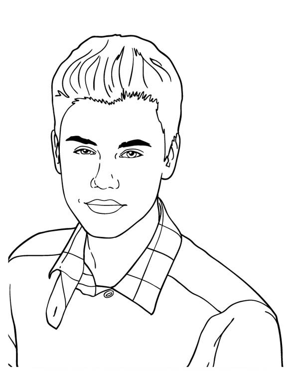 Cute Music Icon Justin Bieber Coloring Page Netart In 2020 Justin Bieber Coloring Pages Music Icon