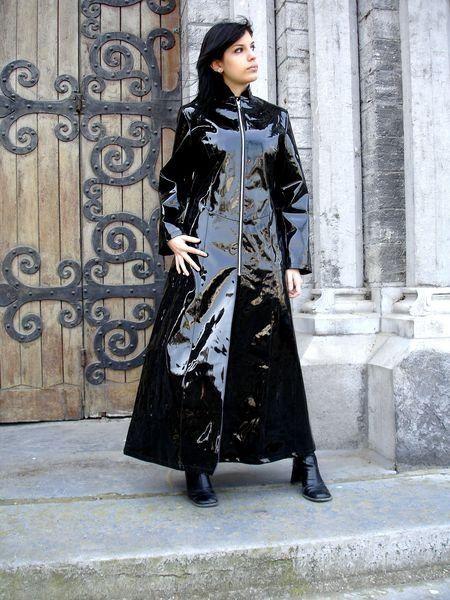 latex, fetish, coat, raincoat, woman, shiny, plastic