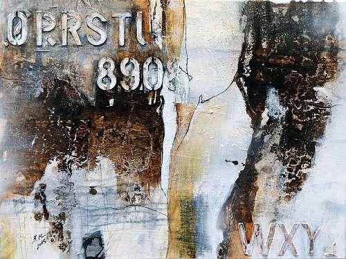 """Bernadette Möllmann, """"Vergangenes"""" (59) Mit einem Klick auf """"Als Kunstkarte versenden"""" versenden Sie kostenlos dieses Werk Ihren Freunden und Bekannten."""