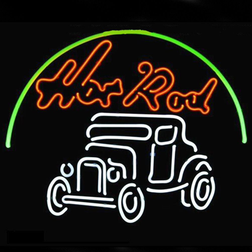Hot Rod Hotrods Logo Auto Car Dealer Beer Bar Real Neon Sign Fast - Car signs logoscar logos can be signs because they tell you something about that