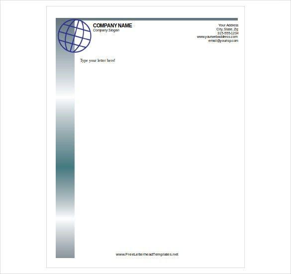 free letterhead template word pdf format download doc company - free letterhead templates download