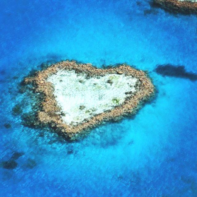 Heart Reef, Great Barier Reef, Queensland, Auatralia