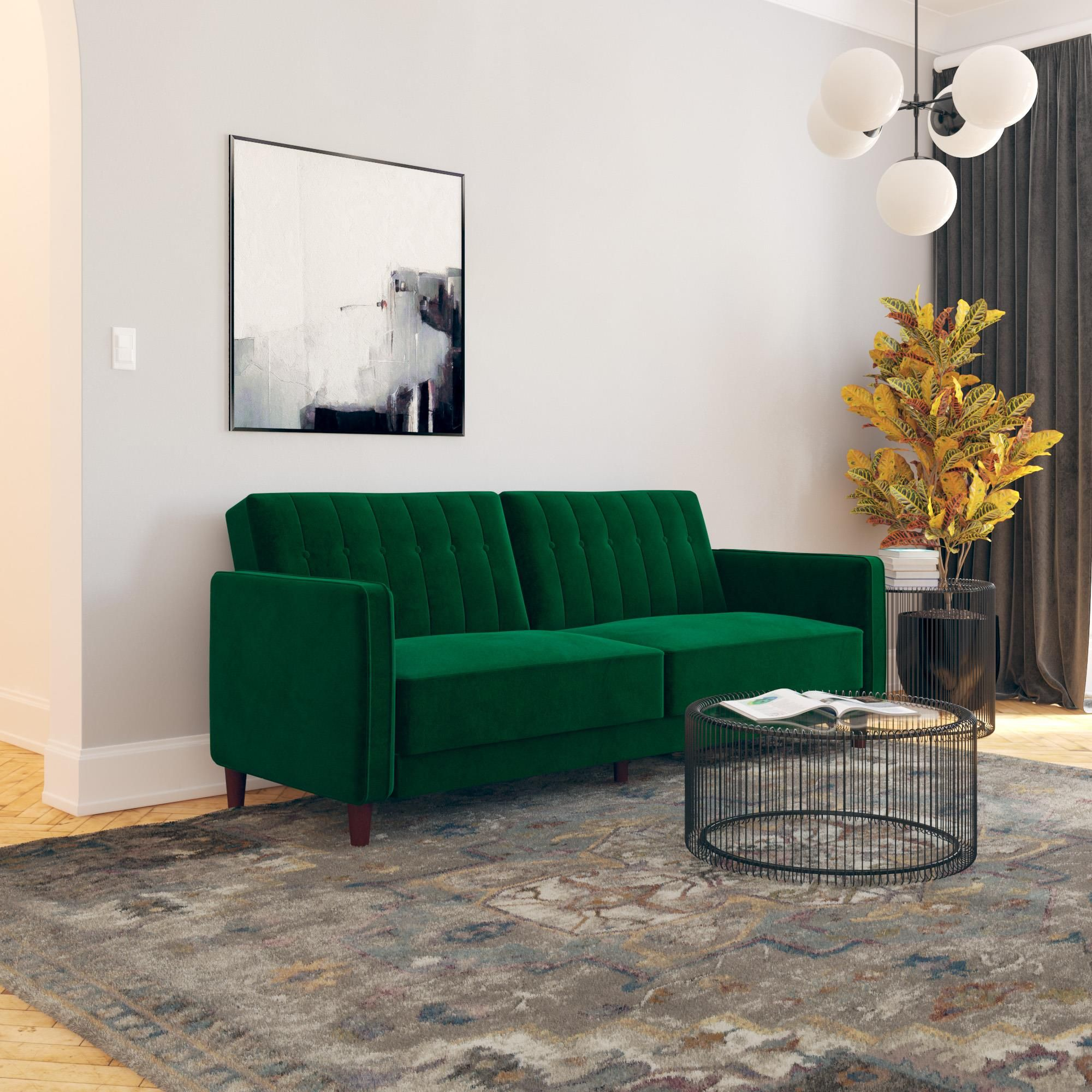 Home Tufted Sofa Living Room Decor Furniture