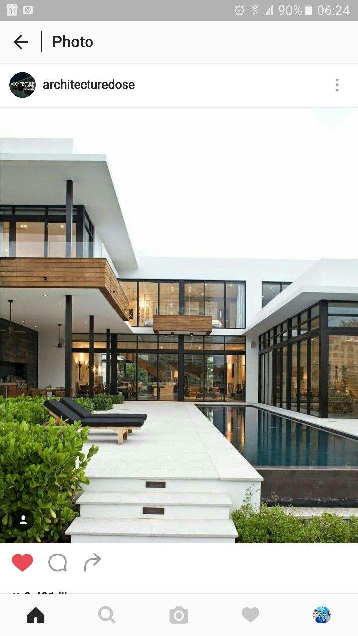 U shaped modern contemporary house luxury modern house minimal home design modern