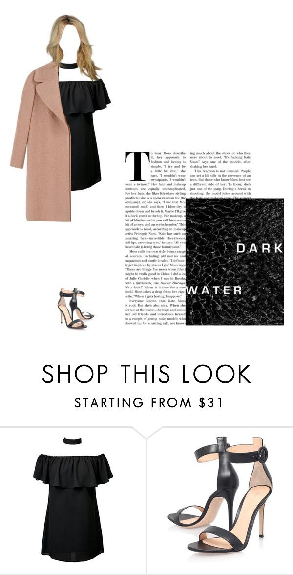 """Elle"" by cinderella-in-black ❤ liked on Polyvore featuring Gianvito Rossi and Rochas"