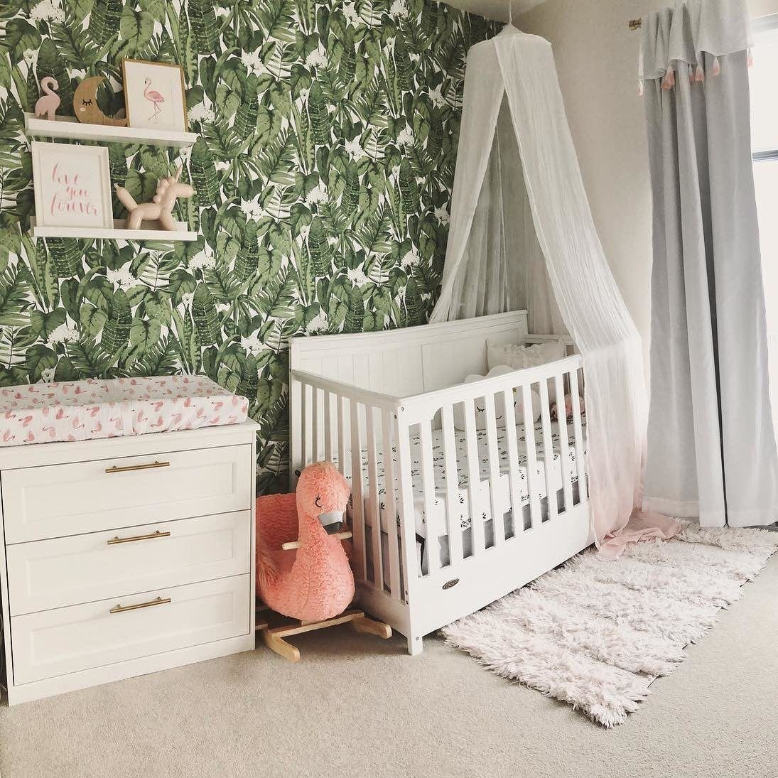 We Love How On Trend And Gender Neutral This Peel And Stick Wallpaper Is Switch Out A Few Gender Neutral Nursery Gender Neutral Nursery Colors Nursery Neutral