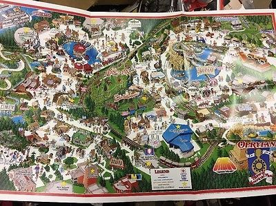 Opryland Usa Map.Rare Last Issue 1995 Opryland Usa Theme Park Map Nashville Tennessee