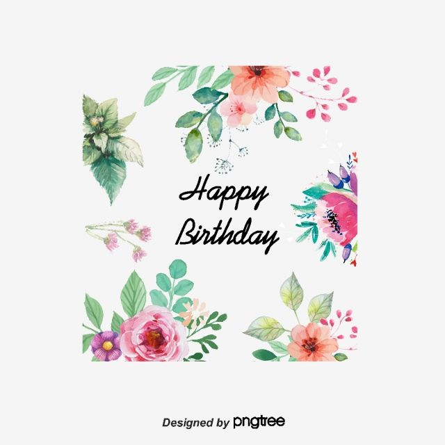 Vector Flowers Greeting Cards Watercolor Style Flowers Birthday Card Element Flowers Vector Png Transparent Clipart Image And Psd File For Free Download Vector Flowers Happy Birthday Design Greeting Card Template