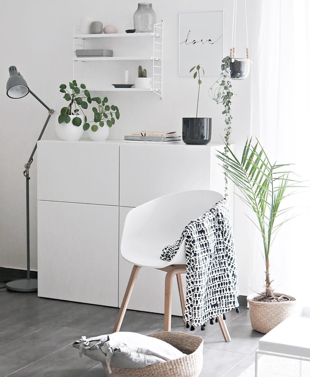 white interior and green plants | Inspired Interiors | Pinterest ...