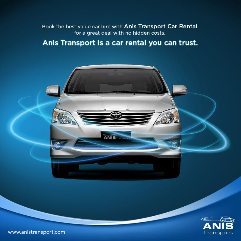Book the best value carhire with anis transport car
