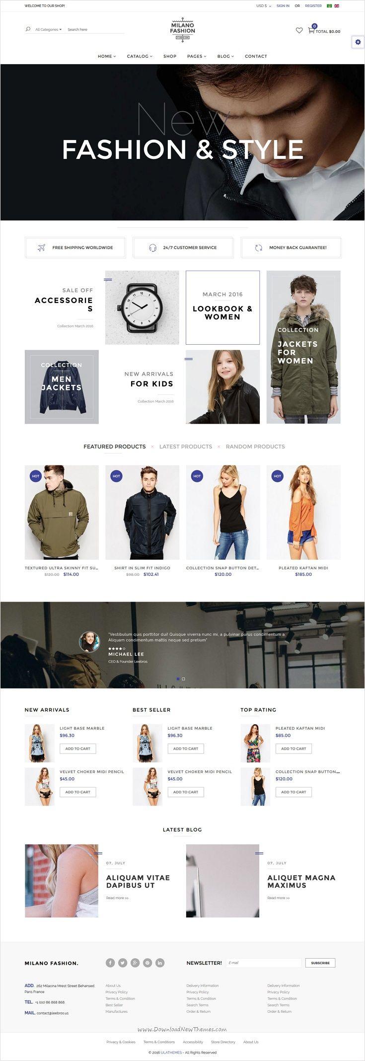 Joomla tshirt design - Milano Is Perfectly Design Responsive Virtuemart Joomla Template For Amazing Ecommerce Website With