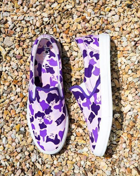 Ripndip Purple Camo Slip Ons in 2020
