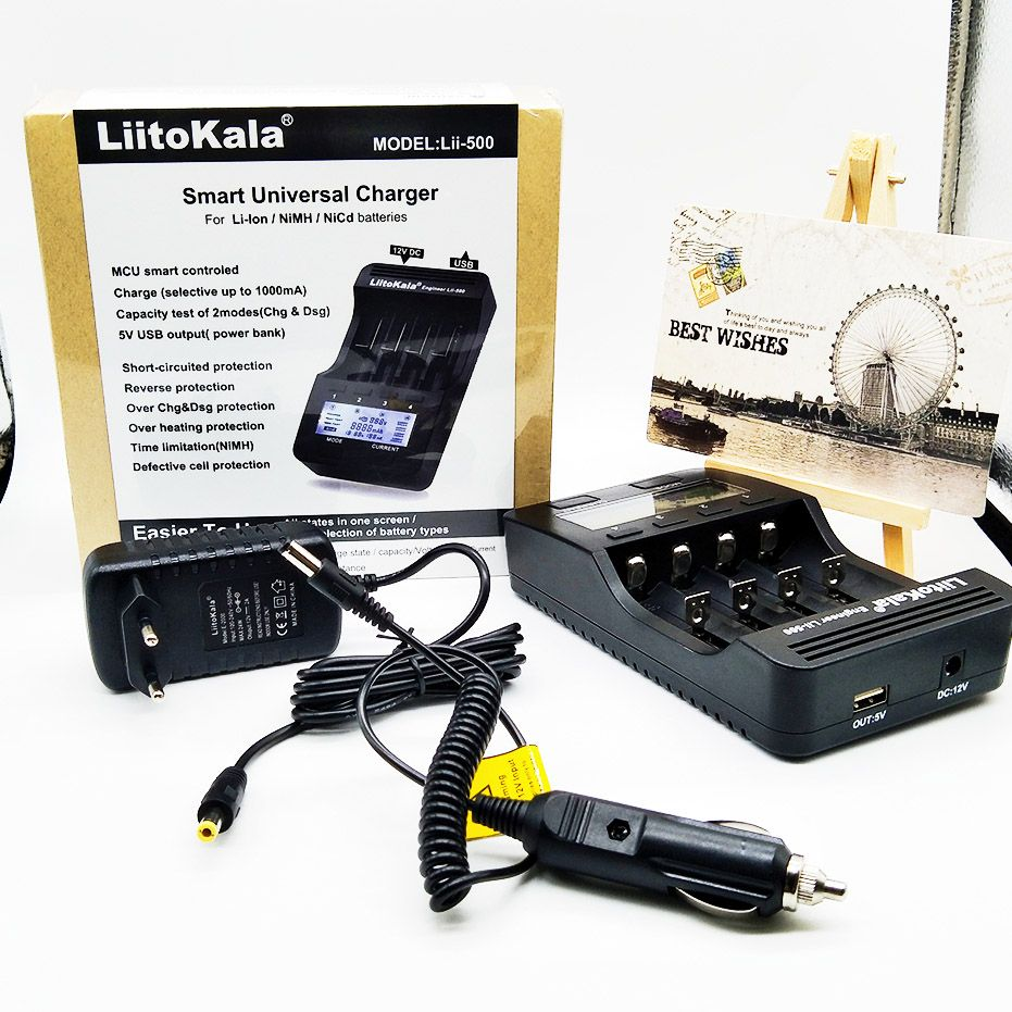 Liitokala Lii 500 202 100 402 Battery Charger 37v 12v Nicd Uses Leds Constant Current 37