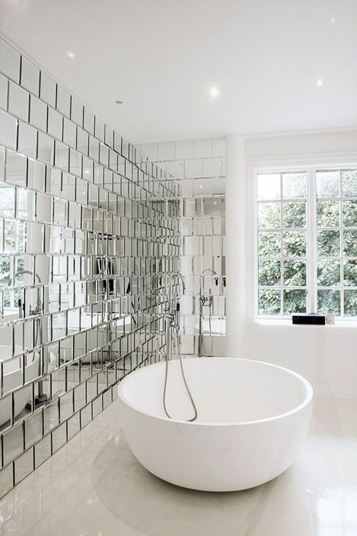 Modern mirrored bathroom wall #bathroomcabinetsluxury | DIY ...