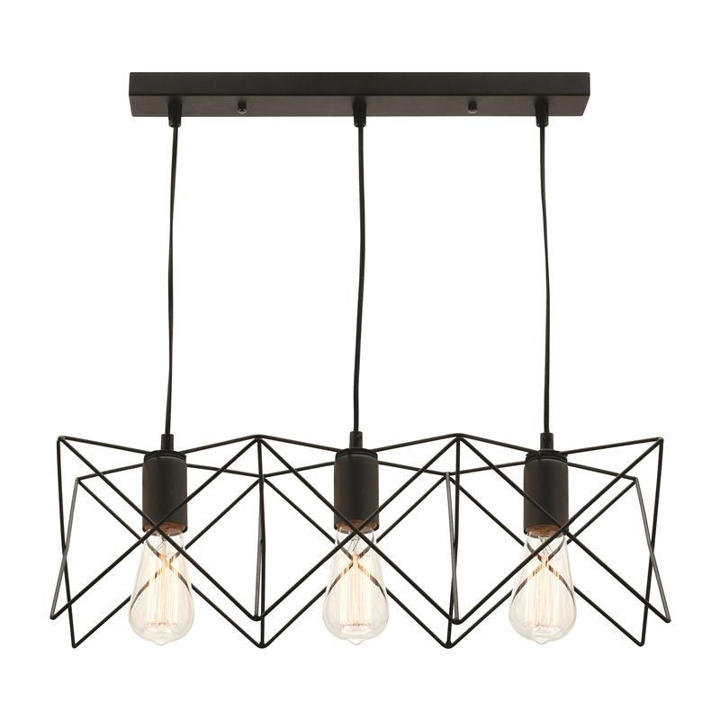 Find Mercator 240v 3 Light Matt Black Prism Vista Pendant Light At Bunnings Warehouse Visit Your Copper Ceiling Lights Ceiling Pendant Lights Copper Lighting